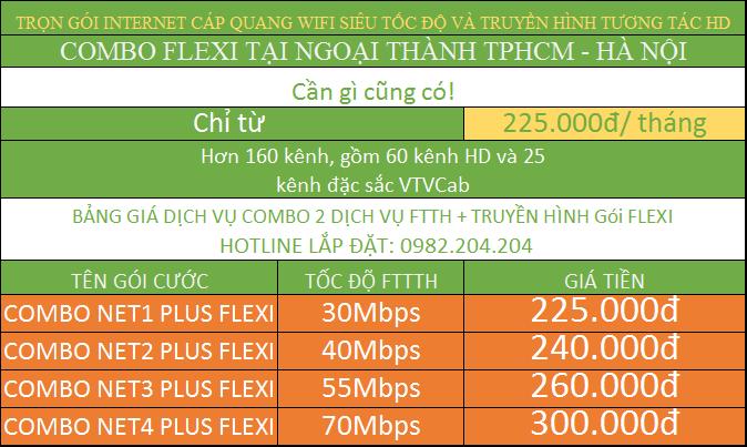Đăng Ký Lắp Đặt Mạng Internet FTTH Cáp Quang Wifi Viettel TPHCM combo ngoại thành.