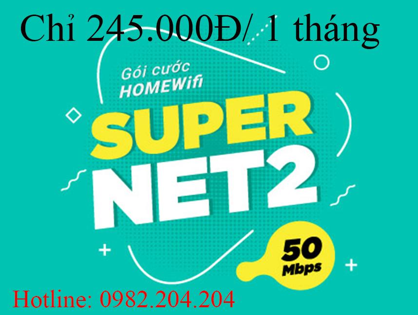Gói cước supernet 2 Viettel