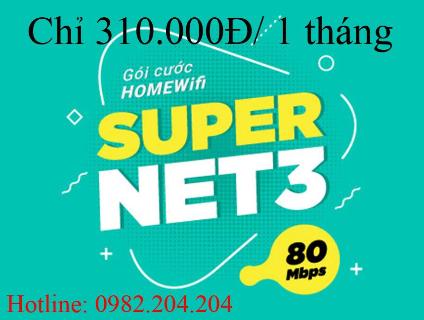 Gói cước supernet 3 Viettel