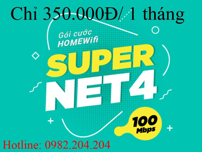 Gói cước supernet 4 Viettel