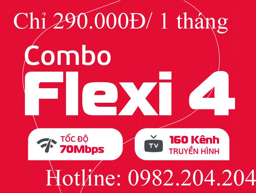 Lắp cáp quang Viettel 2021 gói combo flexi 4