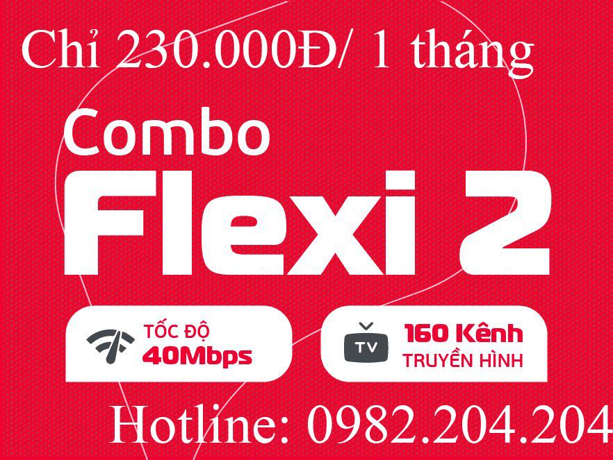 Lắp đặt mạng Viettel 2021 gói combo flexi 2