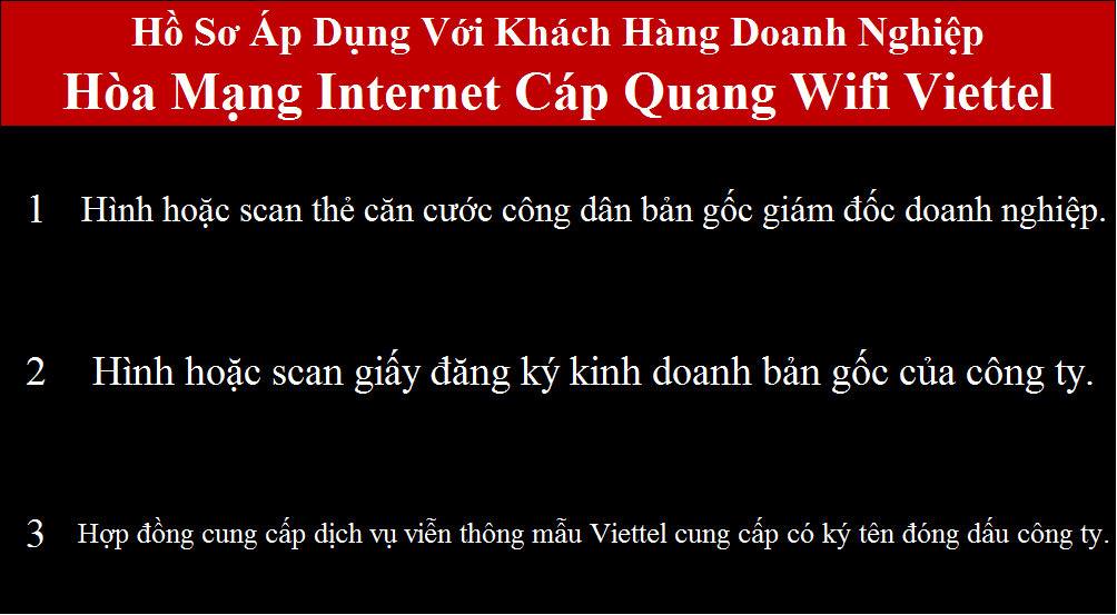 Lắp mạng Viettel