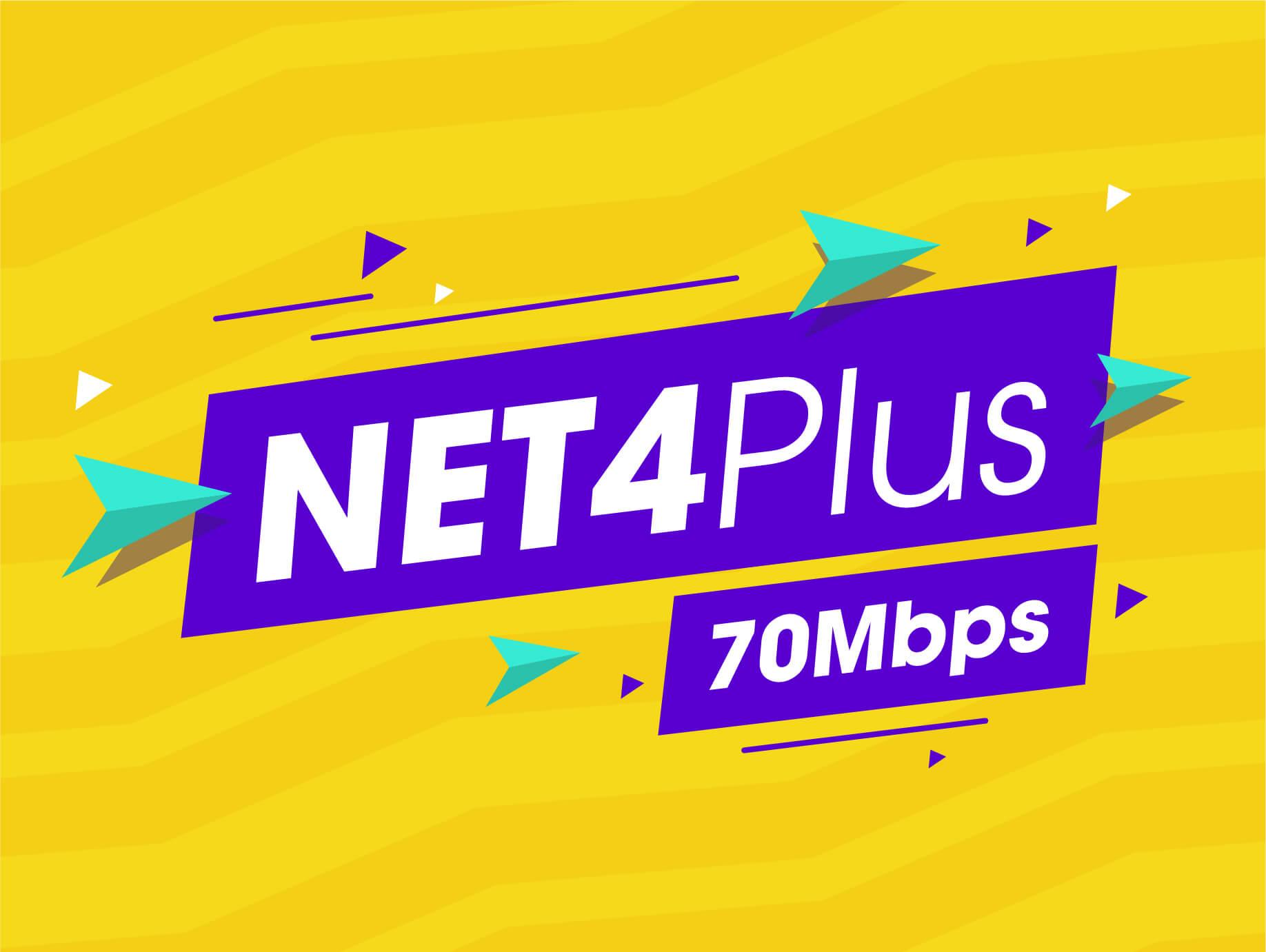 Net 4 plus 70 Mbps
