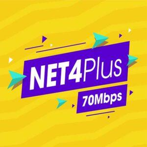 Net 4 plus Viettel 70 Mbps