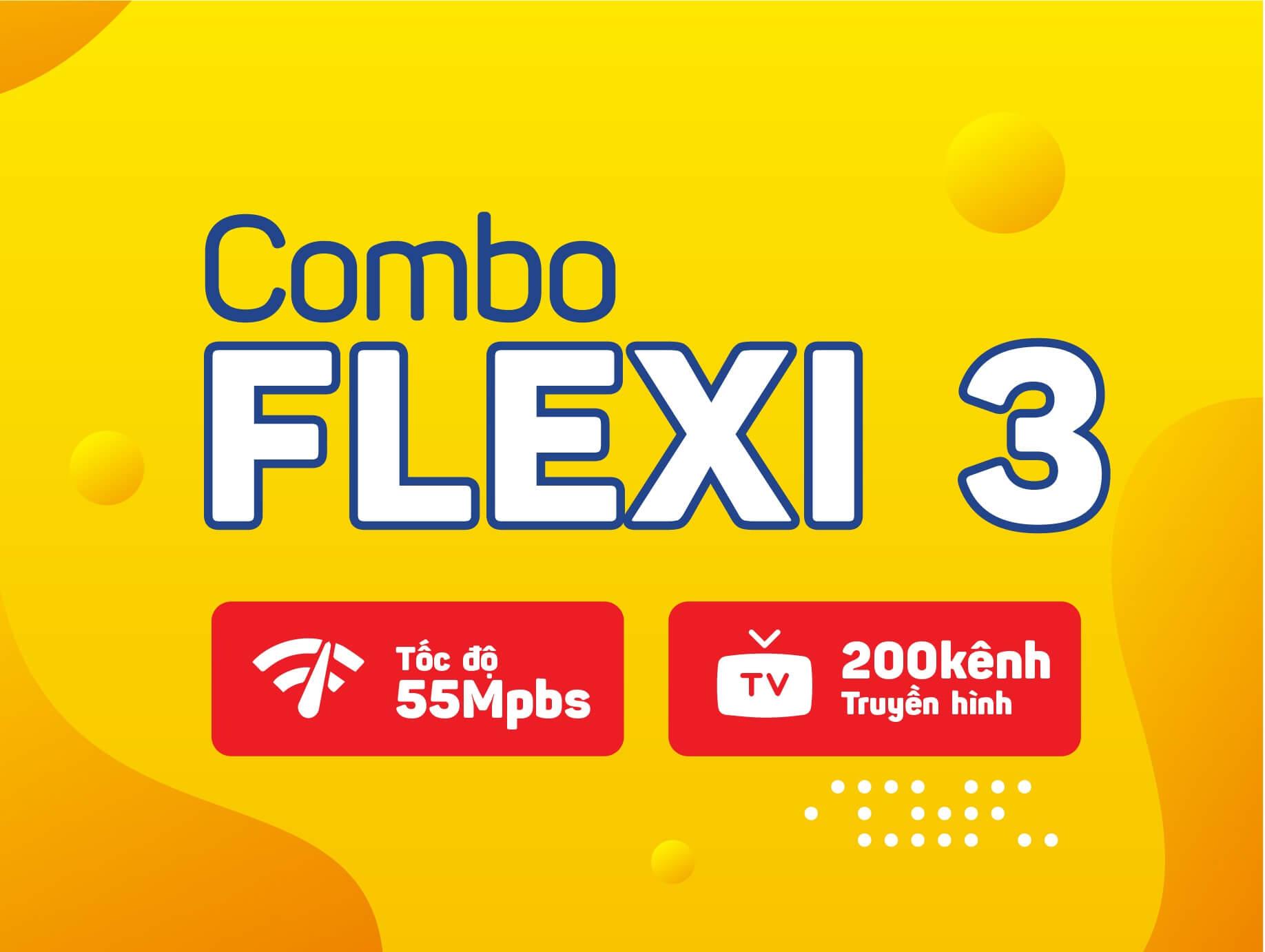 Combo internet truyền hình flexi 3