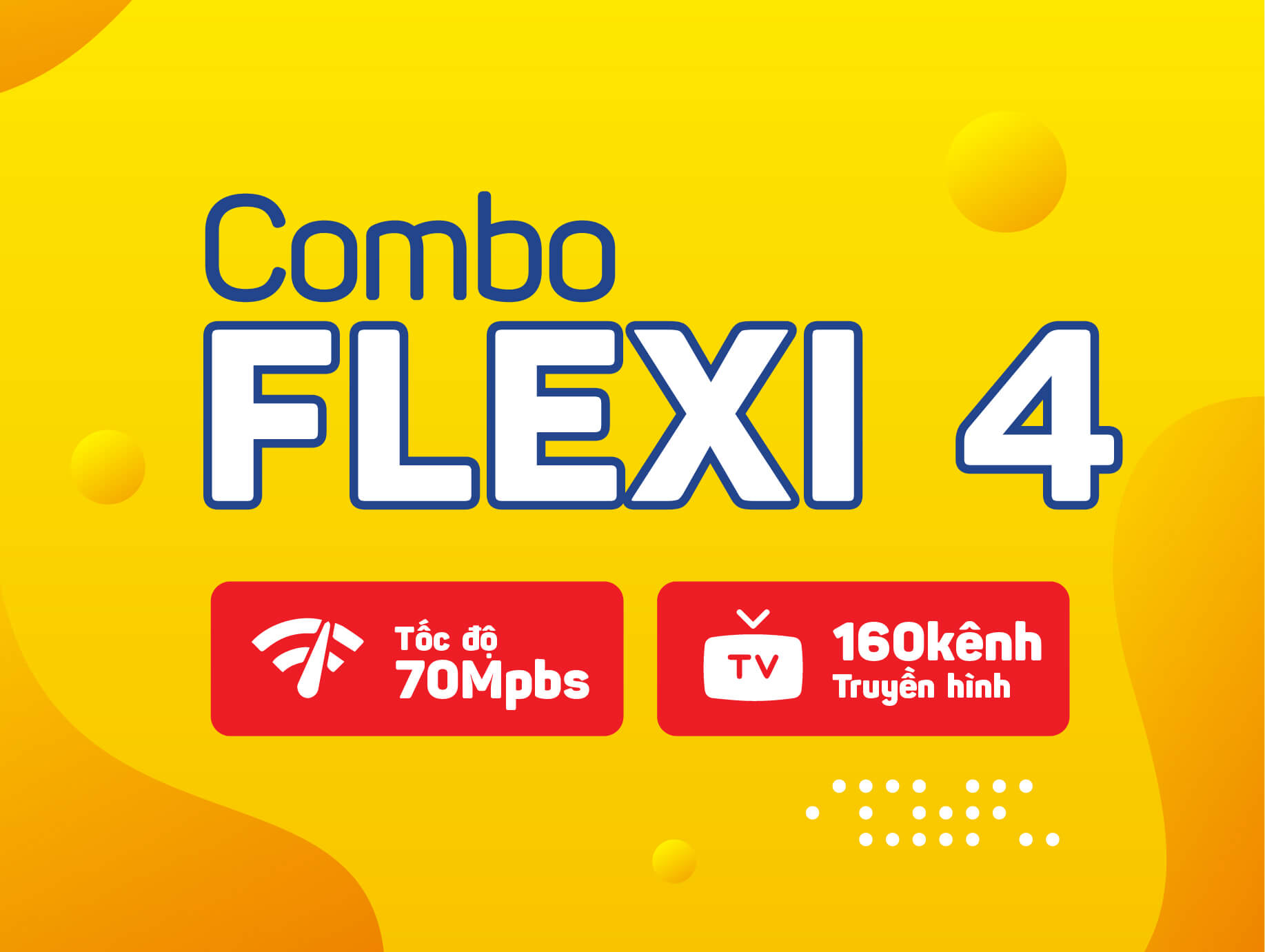 Combo internet truyền hình Flexi 4