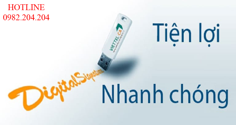 Chữ ký số Viettel TPHCM với USB Token