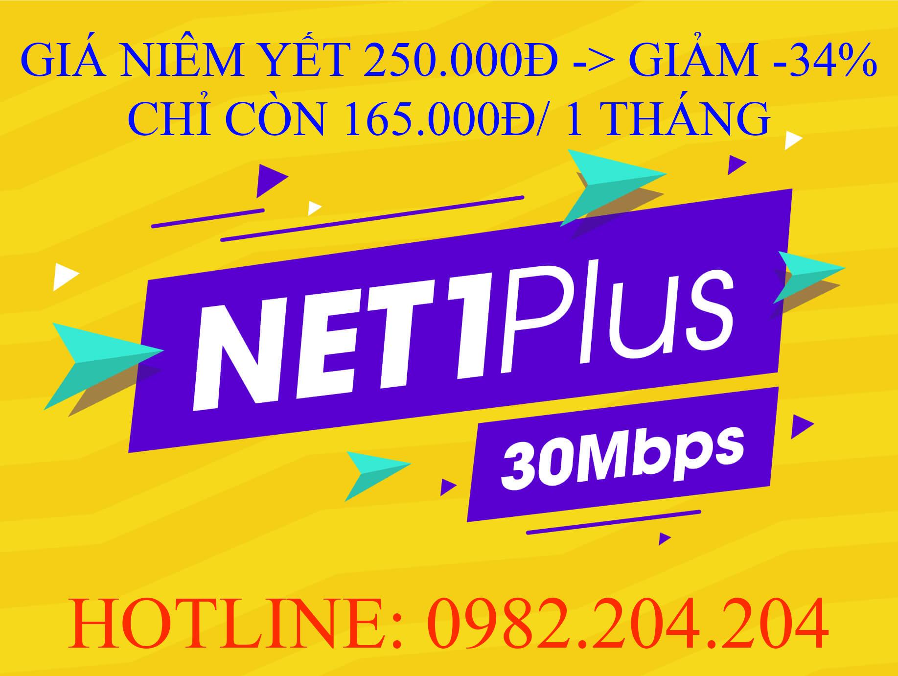 Đăng Ký Lắp Đặt Mạng Internet FTTH Cáp Quang Wifi Viettel Net 1 plus