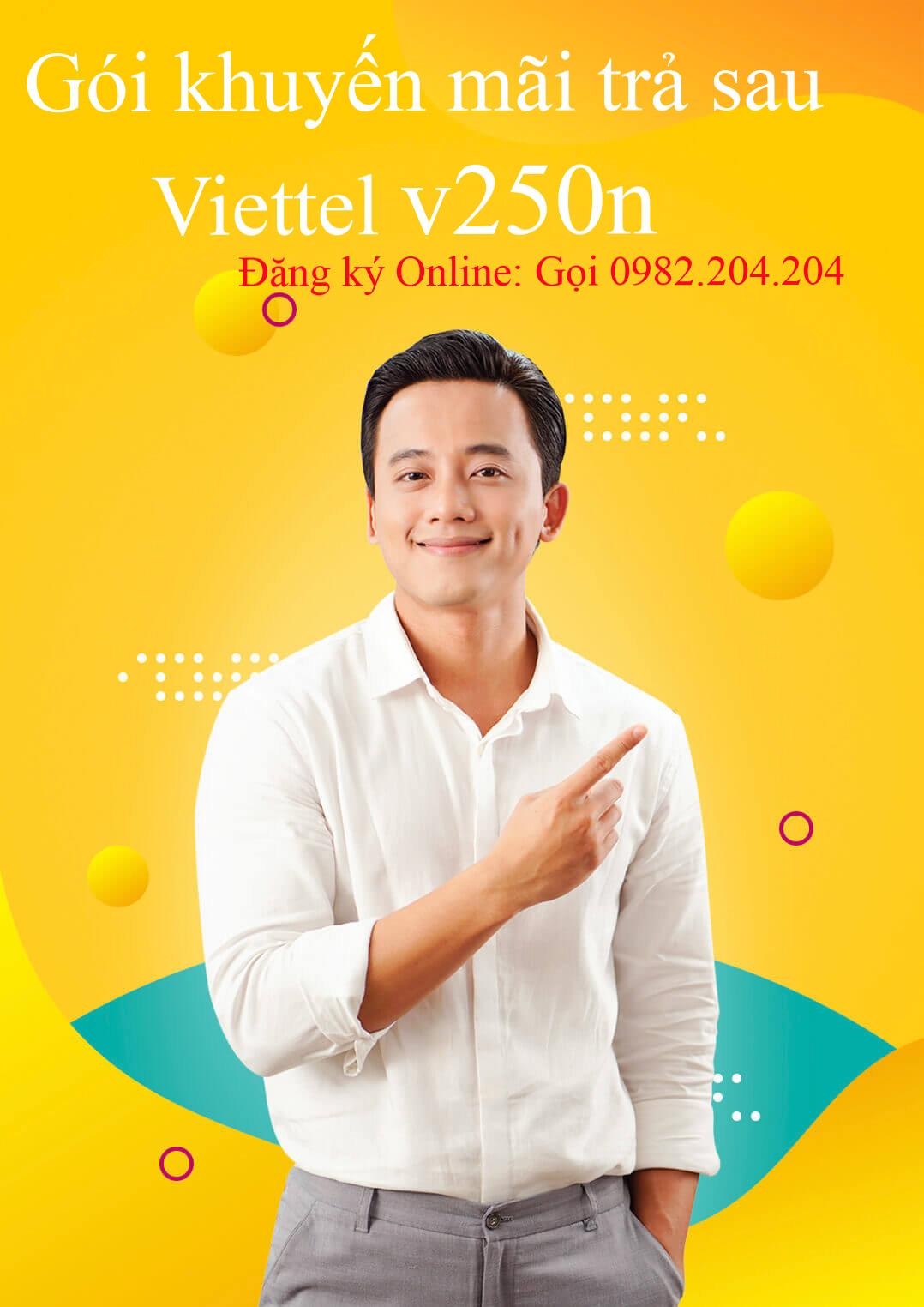 Gói cước di động trả sau Viettel doanh nghiệp V250N.