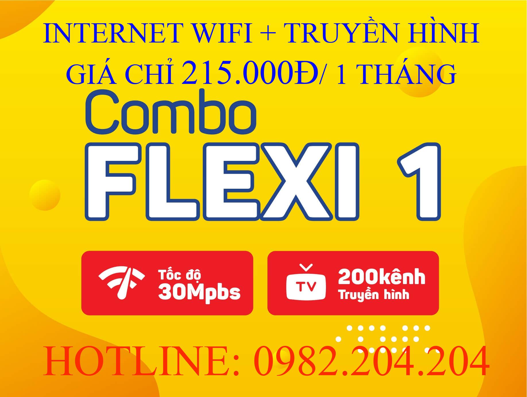 Lắp đặt internet Viettel và truyền hình combo flexi 1
