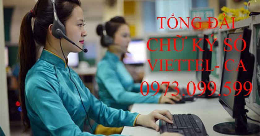 Tổng đài chữ ký số Viettel TPHCM 0973099599
