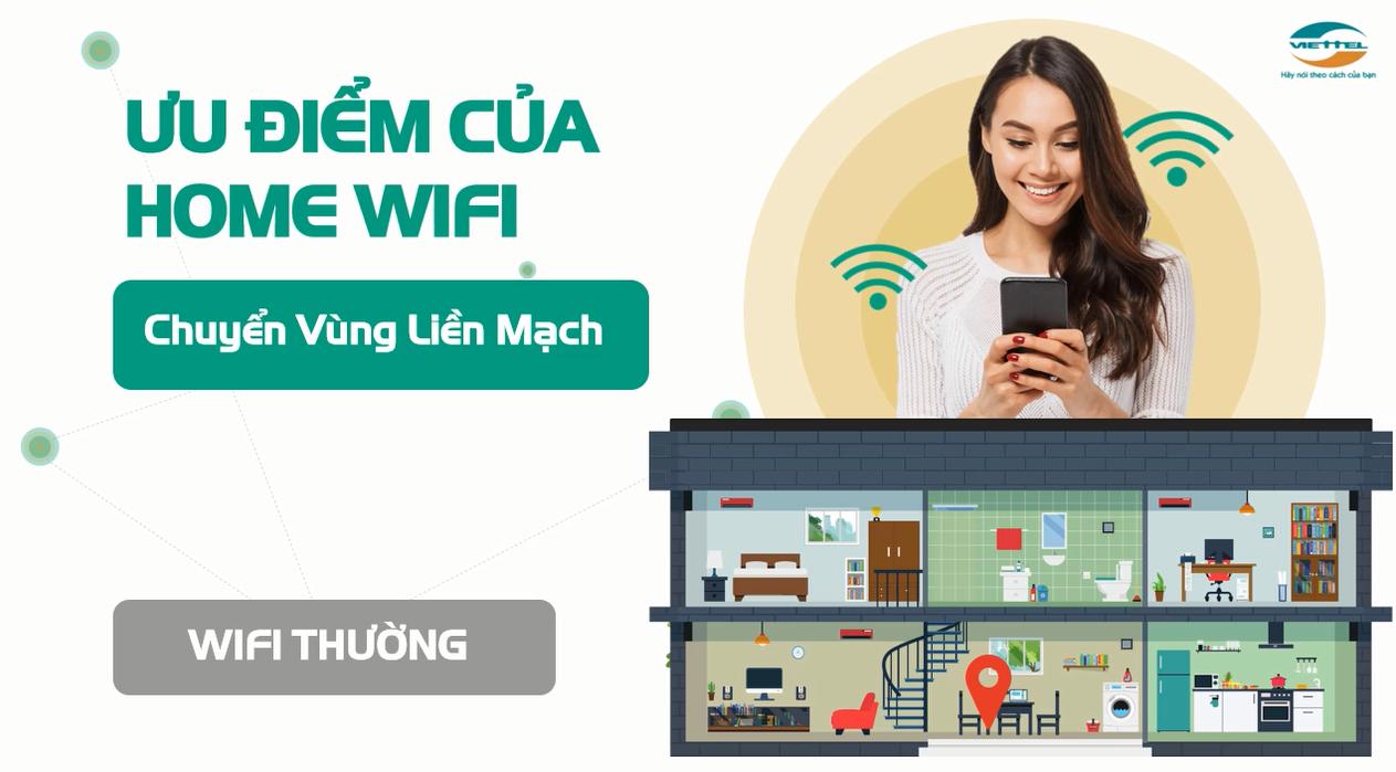 Home Wifi Viettel chuyển vùng liền mạch