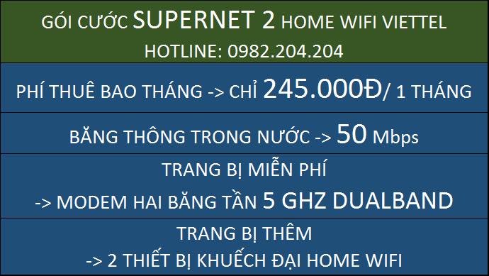 Lắp Home wifi Viettel Supernet 2