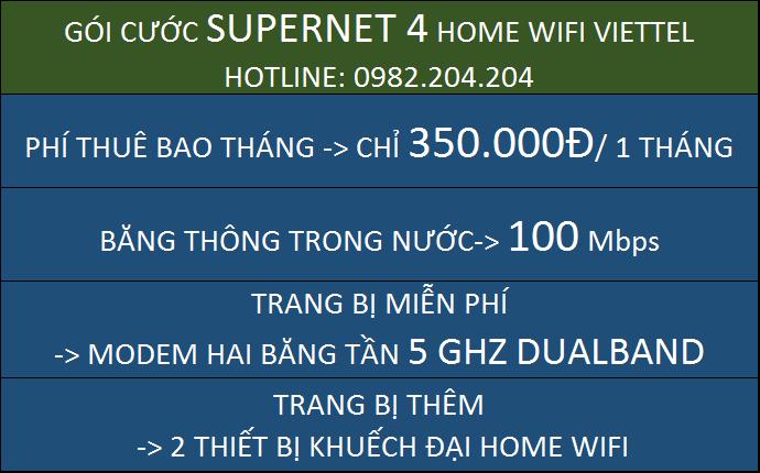 Lắp Home wifi Viettel Supernet 4