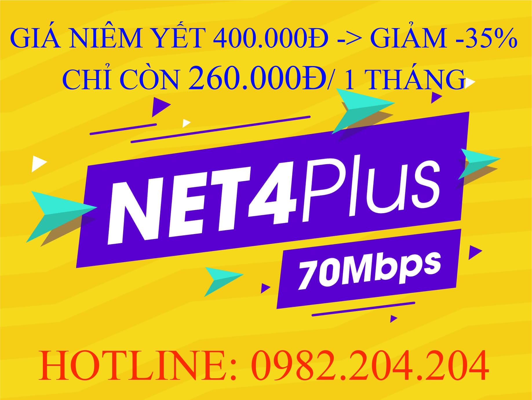 Lắp Mạng Viettel Gói Net 4 plus