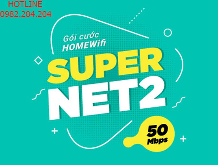 Lắp cáp quang Viettel gói Supernet 2