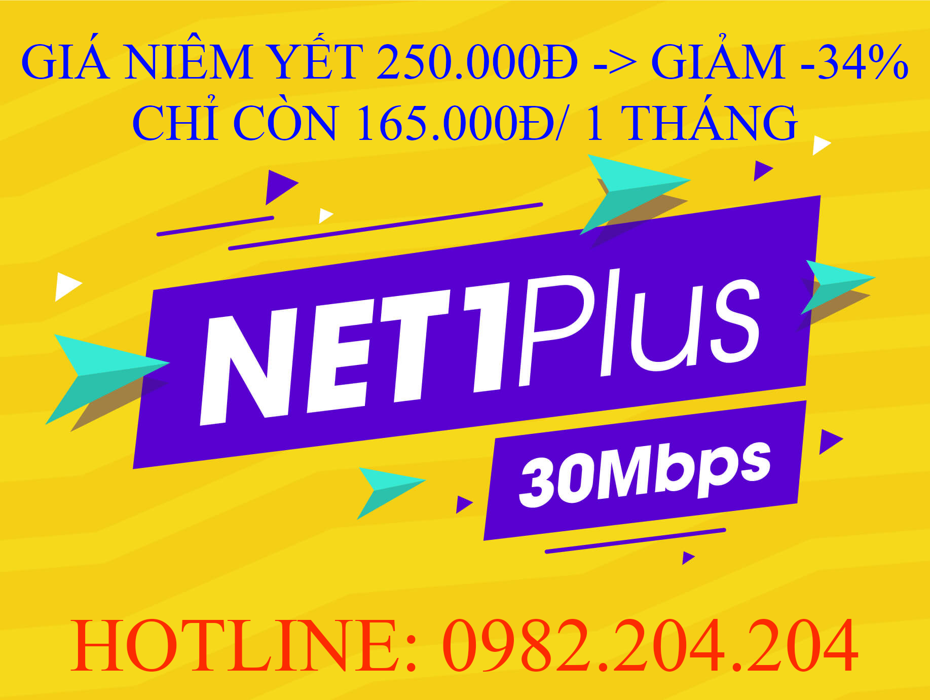 Lắp mạng Viettel gói Net 1 Plus
