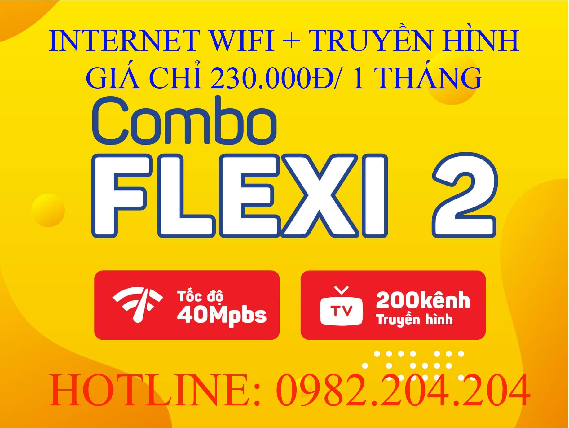 Lắp wifi Viettel combo flexi 2 kèm truyền hình
