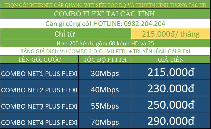 Tổng hợp bảng giá lắp wifi Viettel kèm truyền hình