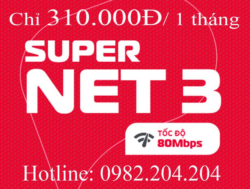 14.Lắp mạng Viettel Home Wifi gói Supernet 3 hàng tháng chỉ 310.000Đ