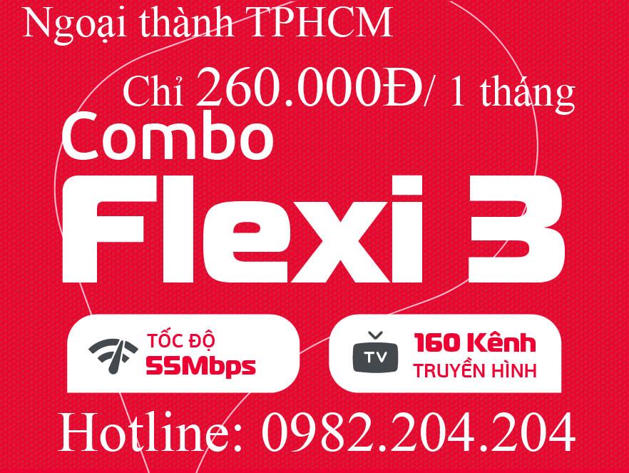 23.Lắp wifi Viettel gói combo net 3 kèm truyền hình ngoại thành Hà Nội TPHCM cước hàng tháng 260.000Đ