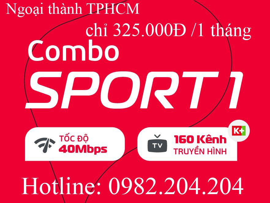 25.Đăng ký mạng Viettel combo Sport 1 truyền hình K+ ngoại thành Hà Nội TPHCM phí hàng tháng 325.000Đ