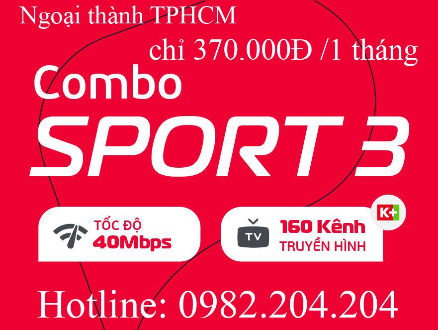 27.Đăng ký mạng Viettel combo Sport 3 truyền hình K+ ngoại thành Hà Nội TPHCM phí hàng tháng 370.000Đ