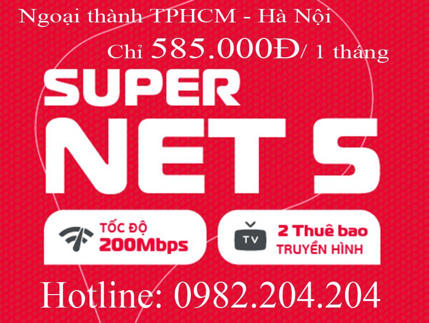 32.Đăng ký internet Viettel gói Supernet 5 ngoại thành Hà Nội TPHCM cước hàng tháng chỉ 585.000Đ