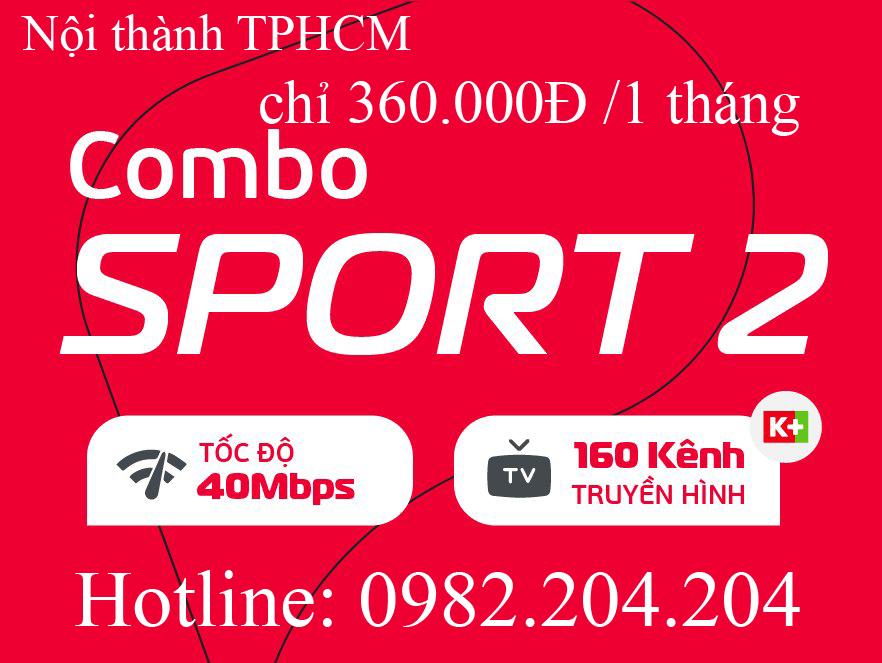 39.Lắp đặt mạng Viettel Gói combo Sport 2 nội thành TPHCM Hà Nội thuê bao tháng 360.000Đ