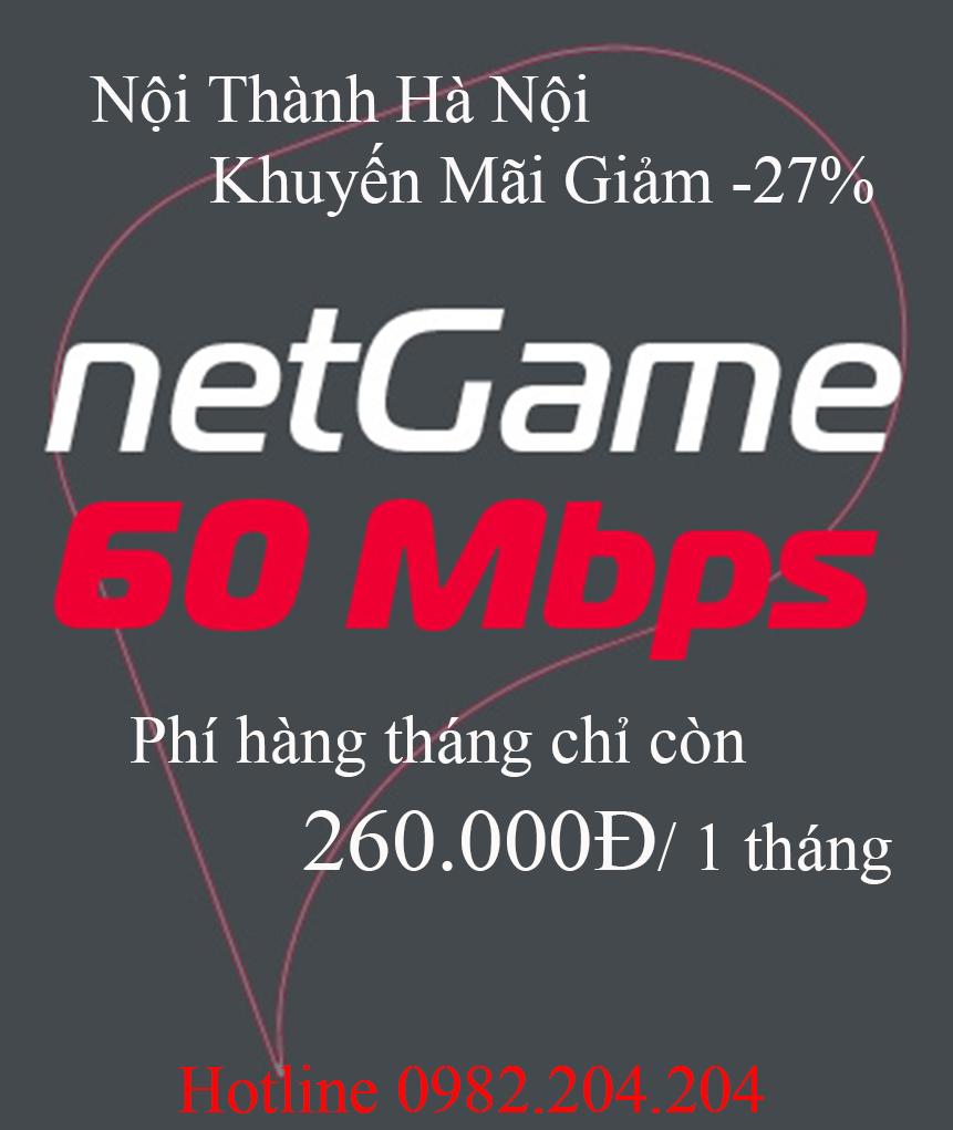 47.Gói cước mới NetGame nội thành Hà Nội