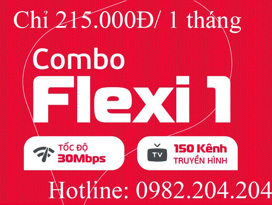 5. Lắp mạng internet wifi Viettel combo Net 1 kèm truyền hình thuê bao tháng 215.000Đ