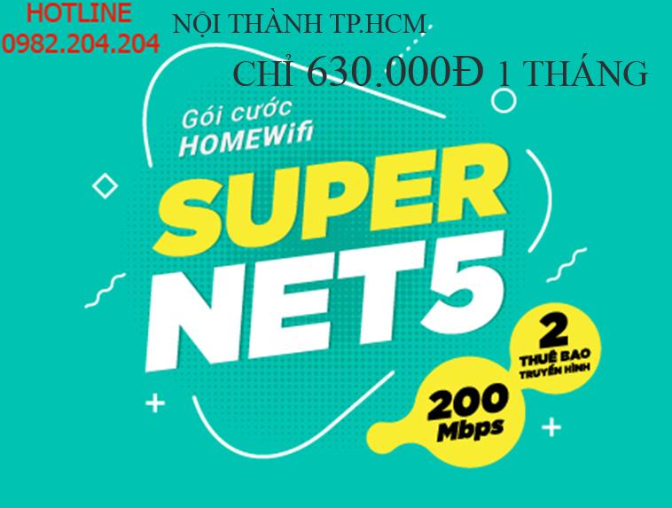 Bảng Giá Lắp Mạng Cáp Quang Wifi Giá Rẻ HCM Nội Thành Gói Supernet 5