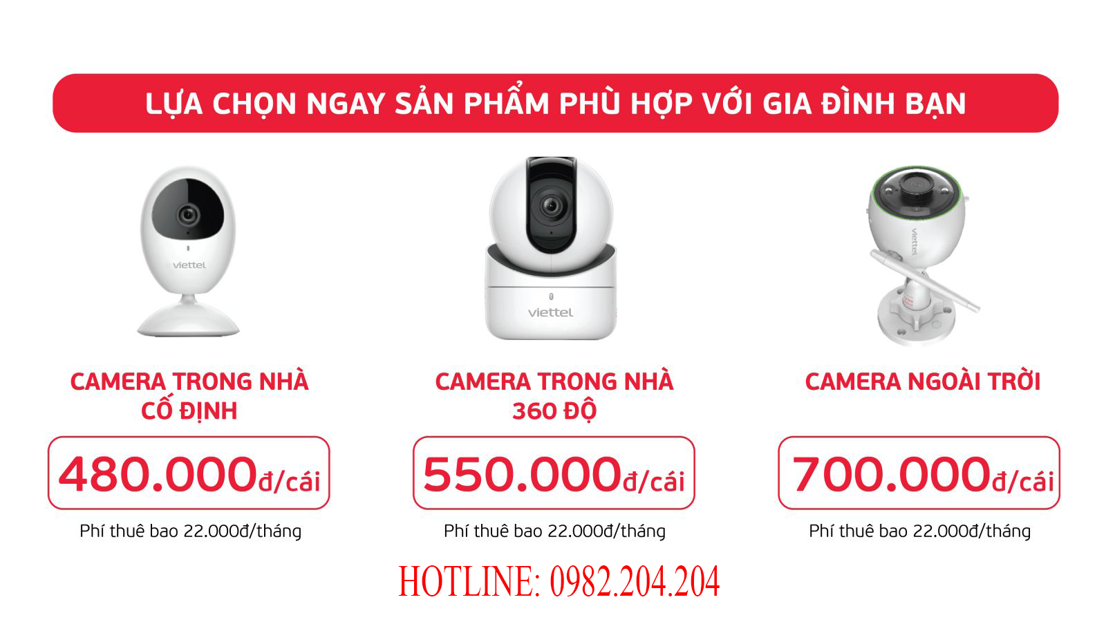 Bảng giá Camera Viettel 2021 Giá Rẻ Chính Hãng