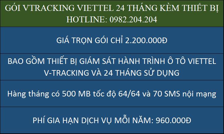 Giá thiết bị giám sát hành trình ô tô Viettel VTracking gói 2 năm chỉ 2200000 Đồng