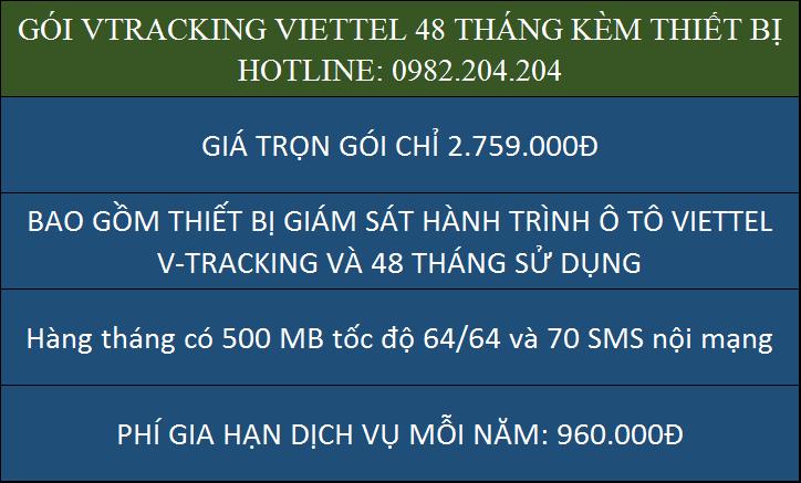 Giá thiết bị giám sát hành trình ô tô Viettel VTracking gói 3 năm chỉ 2759000 Đồng