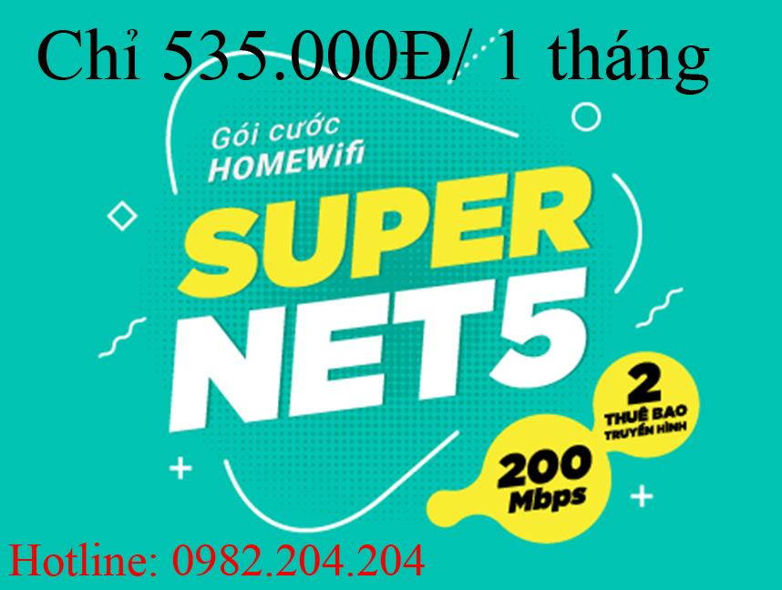 Gói home wifi supernet 5 Viettel
