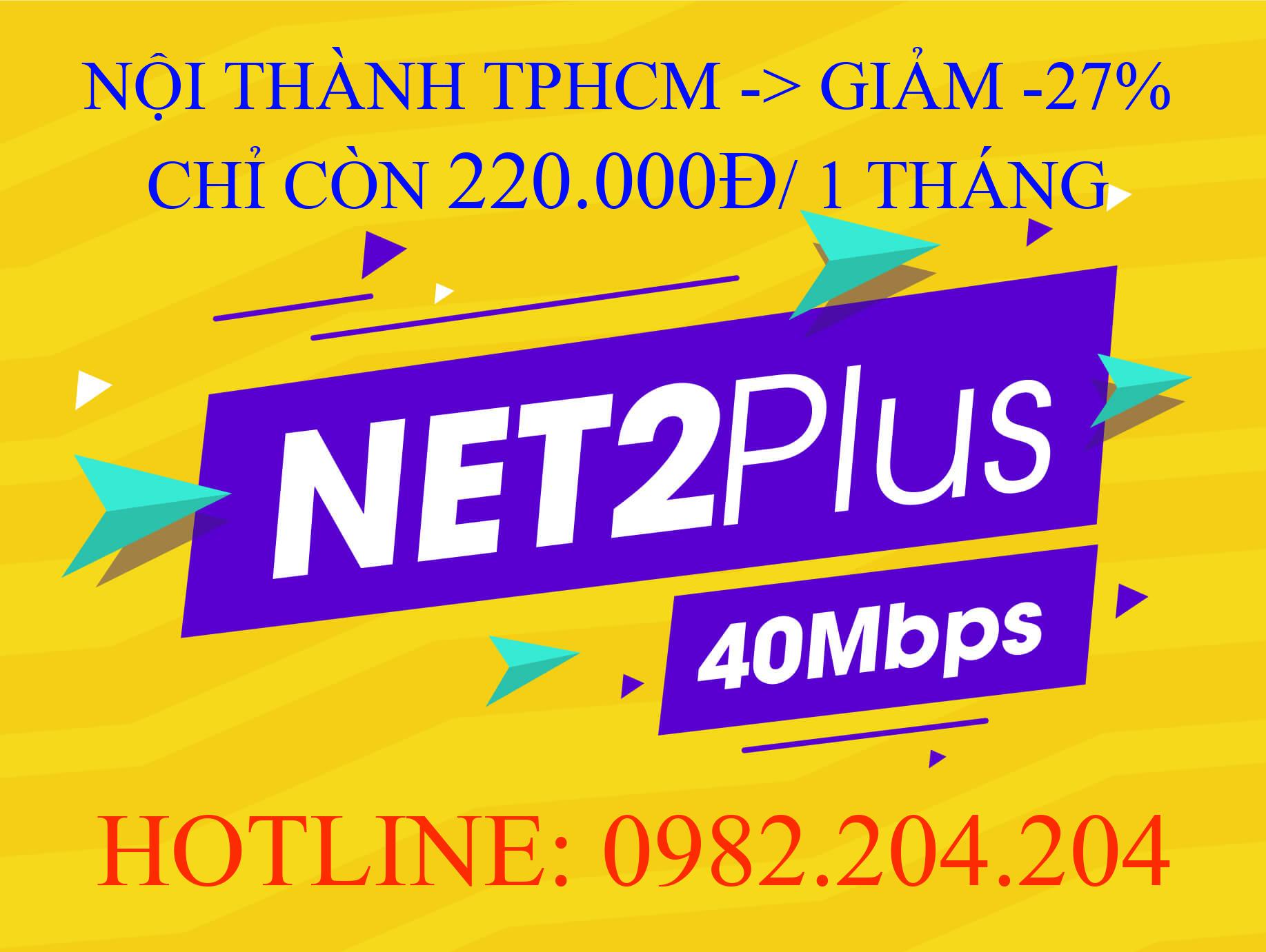 Lắp Mạng Cáp Quang Wifi Giá Rẻ TPHCM Nội Thành Gói Net 2 plus Viettel 40 Mbps