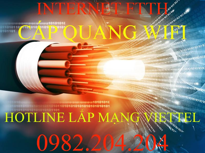 Lắp Mạng Internet Cáp Quang Wifi Viettel 2021 Ưu Đãi 60 Gói Cước