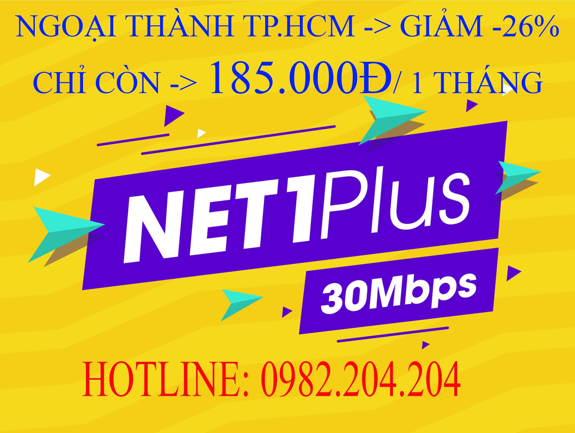 Lắp Wifi Giá Rẻ TPHCM Gói Net 1 plus Viettel 30 Mbps