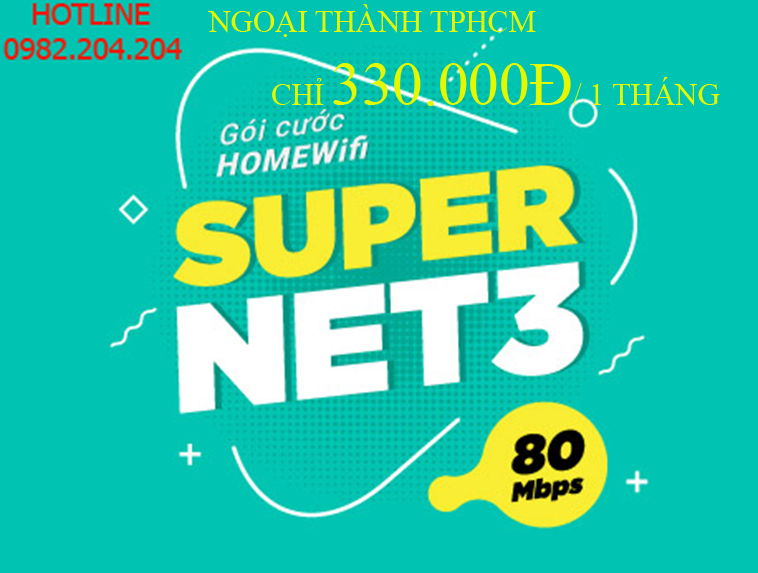 Lắp Wifi Giá Rẻ TPHCM gói Supernet 3