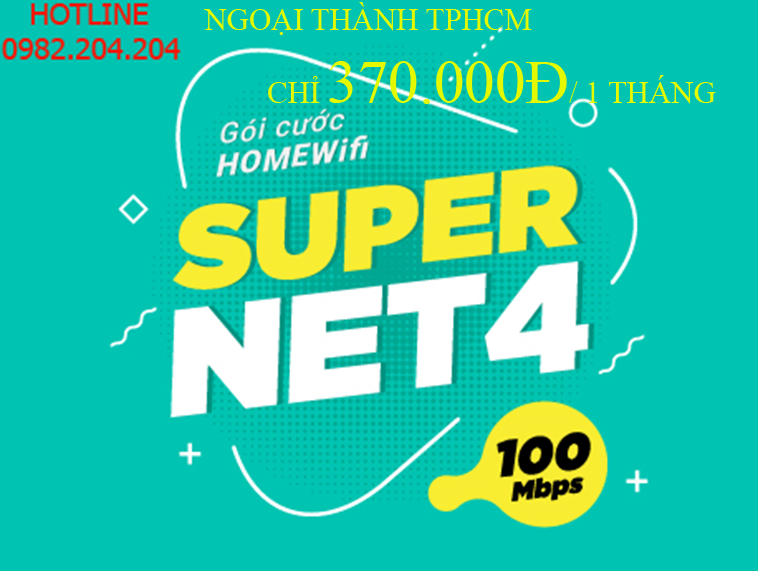 Lắp Wifi Giá Rẻ TPHCM gói Supernet 4