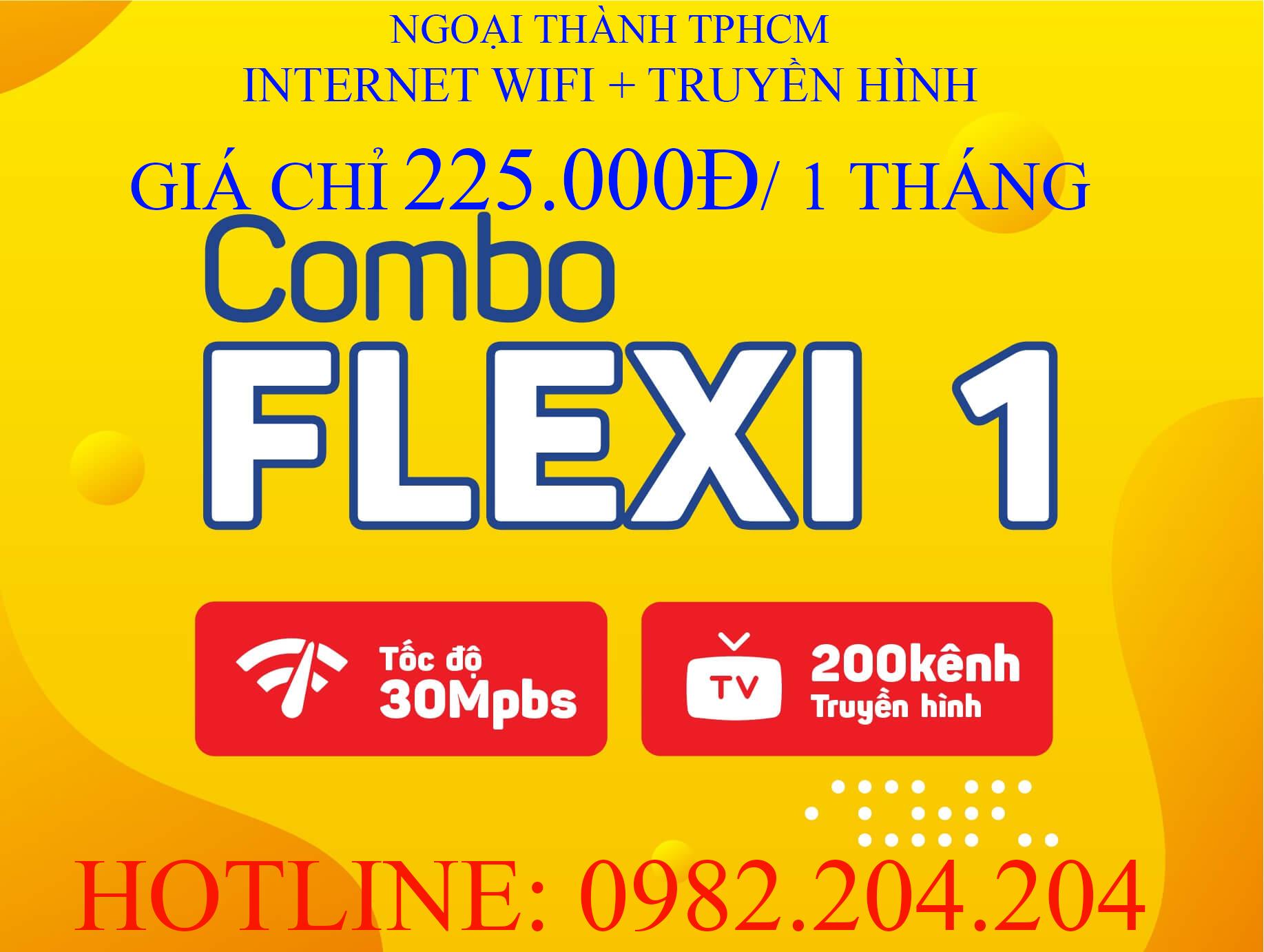Lắp Wifi Giá Rẻ TPHCM kèm truyền hình Gói combo flexi 1