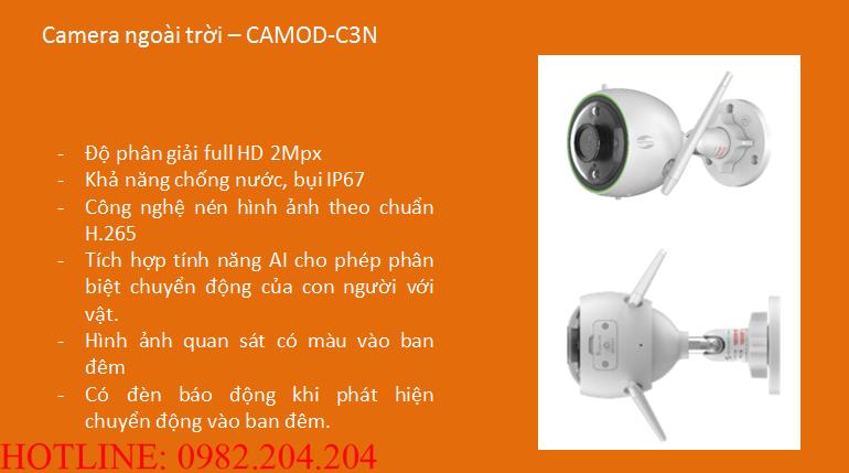 Tính năng thông số loại Camera ngoài trời Home Camera Wifi Viettel giá rẻ CAMOD-C3N