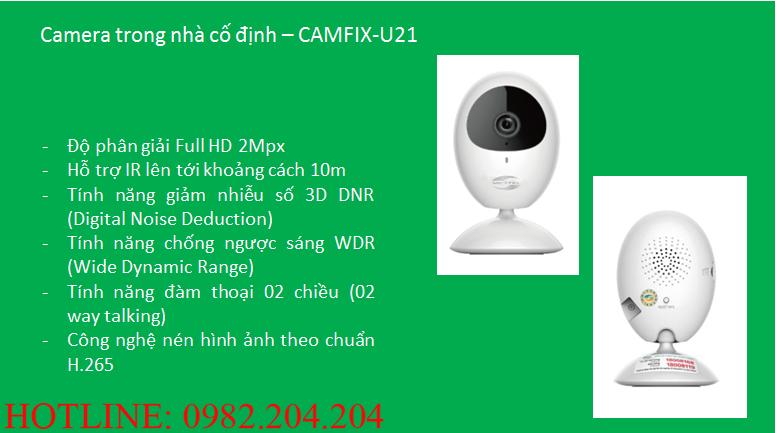 Tính năng thông số loại Camera trong nhà cố định Home Camera Wifi Viettel giá rẻ CAMIX-U21
