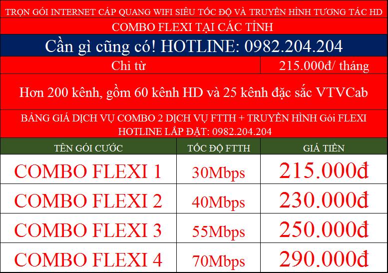 các gói lắp mạng internet wifi Viettel combo Net kèm truyền hình