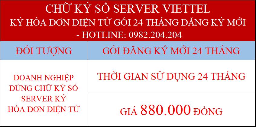 Gói chữ ký số server giá rẻ nhất ký hóa đơn điện tử 24 tháng