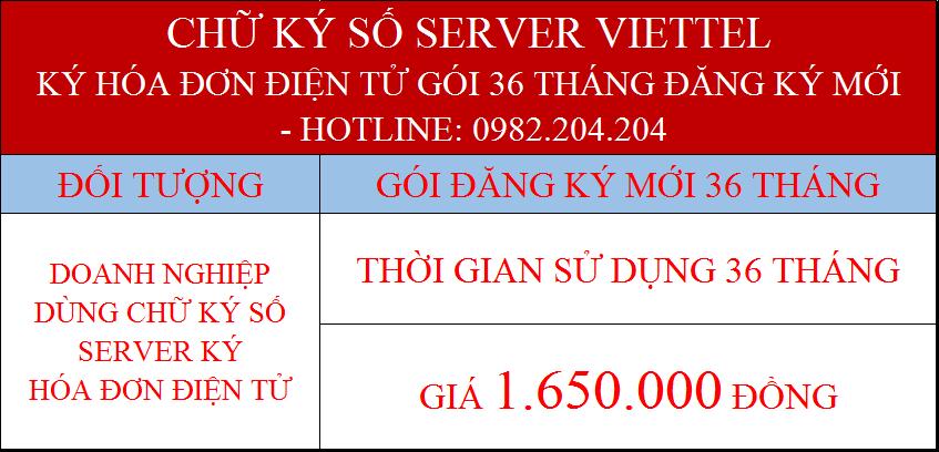 Gói chữ ký số server giá rẻ nhất ký hóa đơn điện tử 36 tháng
