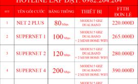 Bảng Giá Các Gói Cước Mạng Internet Cáp Quang Wifi Viettel Nam Từ Liêm Hà Nội 2021