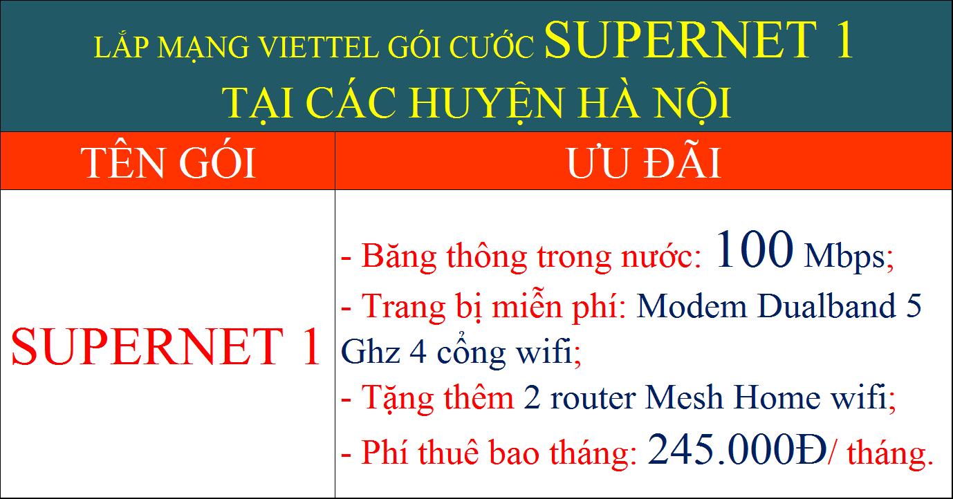 Lắp mạng Viettel Hà Nội gói Supernet 1